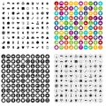 100 spring holidays icons set vector variant