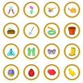 Spring icons circle