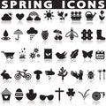 Spring icons set.