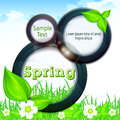 Spring info graphic with text on grey background illustration Stock Image