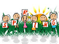 Spring Kids Represents Springt...