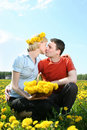 Spring kiss Royalty Free Stock Photo