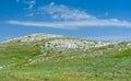 Spring landscape in chatyr dah mountainous massif in crimea crimean peninsula Stock Photo