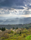 Spring Landscape Light Rays Blue Ridge Parkway NC