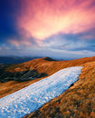 Spring landscape in mountains Royalty Free Stock Photo