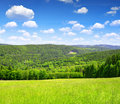 Spring landscape in the national park sumava czech republic Royalty Free Stock Image