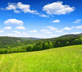 Spring landscape in the national park sumava czech republic Royalty Free Stock Photography