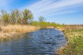 Spring landscape with small river Royalty Free Stock Photo