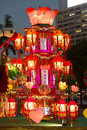 Spring lantern festival in hong kong the carnival takes place the grounds of the exhibition at the cultural Royalty Free Stock Images