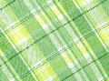 A spring like tartan pattern scan of yellow and green textile for background Stock Photo