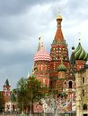 Spring Moscow city landscape. Well-known monument of Russian architecture