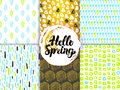 Spring Nature Funky Seamless Patterns