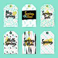 Spring Nature Trendy Gift Labels