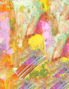 Spring nice large scale original abstract oil painting on glass Stock Photography
