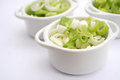 Spring onions some fresh in a bowl Stock Image