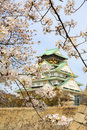 Spring in osaka castle japan the picture was taken during sakura cherry blossom photo taken on april Stock Photography