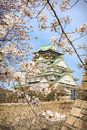 Spring in osaka castle japan the picture was taken during sakura cherry blossom photo taken on april Royalty Free Stock Photography