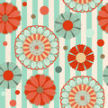 Spring pastel floral saemless pattern with lines Stock Image