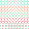 Spring pattern colors five seamless patterns Stock Photos