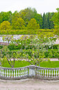 Spring in Petergof park Royalty Free Stock Photo