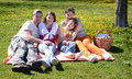 Spring picnic for whole family Royalty Free Stock Image