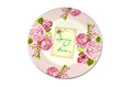 Spring plate a with a menu card and text is here Stock Images