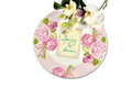 Spring plate with orchids is here Stock Image