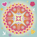Spring power mandala Royalty Free Stock Photos