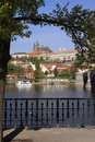 Spring Prague's gothic Castle above River Vltava Royalty Free Stock Photos