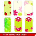 Spring price tags Royalty Free Stock Photo