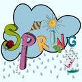 Spring raining cloud Royalty Free Stock Photo