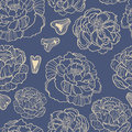 Spring rampage seamless patter beautiful romantic peony for textile scrapbook paper stationary or web Stock Image