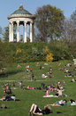 Spring relaxation englischer garten english garden munich germany Royalty Free Stock Photography
