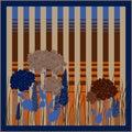 Spring retro floral print. Silk scarf graphics. Royalty Free Stock Photo