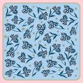 Spring retro floral print Royalty Free Stock Photo
