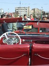 Spring retro parade old car at in bucharest romania Royalty Free Stock Photography