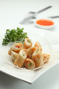 Spring roll a plate of fried Royalty Free Stock Photography