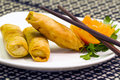 Spring rolls chinese appetizer Royalty Free Stock Photo