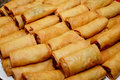 Spring rolls many on a plate Royalty Free Stock Photography