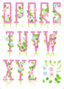 Spring or romantic ABC set, part 2 Royalty Free Stock Photo