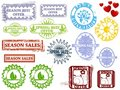 Spring rubber stamps Stock Images