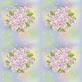 Spring sakura blossom seamless background