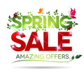 Spring sale amazing offers message on a white background Royalty Free Stock Images