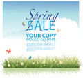 Spring sale background template eps vector Stock Photos