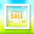 Spring sale background. Vector illustration.