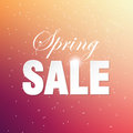 Spring sale blurry unfocused poster Royalty Free Stock Photography