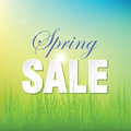 Spring sale blurry unfocused poster Stock Photography