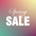 Spring sale blurry unfocused poster Stock Images