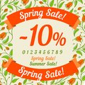 Spring sale design with floral pattern background vector illustration Stock Photography