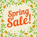 Spring sale design with floral pattern background vector illustration Stock Image